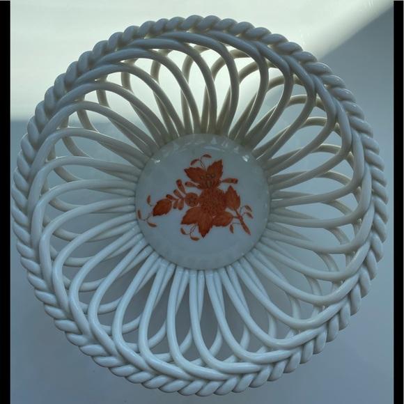 Herend porcelain basket